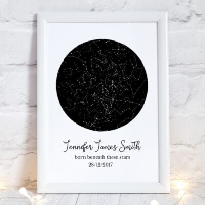 new baby gift, custom stars map, baby gift ideas, Night Sky Print, Star Map Poster,