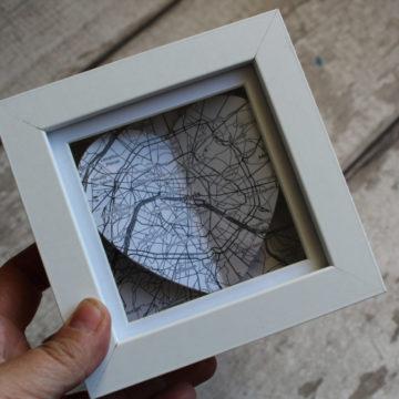 mini framed map