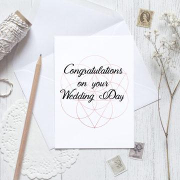 Card – Geometric Wedding card