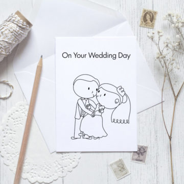 Card – Stick figure on your wedding day 3