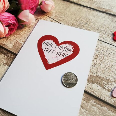 Custom Valentines day card - Scratch and reveal