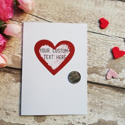 Scratch and reveal valentines day card