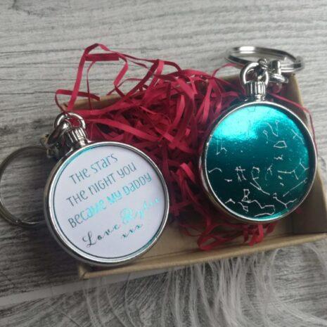teal foil keepsake gift