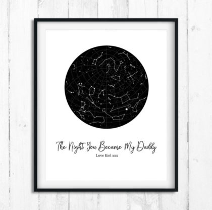 daddy gifts, father gift, dad gift, gifts for dad, First fathers day gift, 1st fathers day, fathers day gift, personalised star gift, PRINT