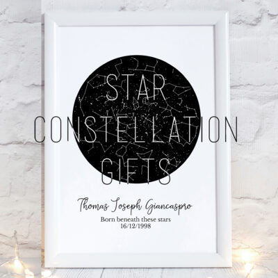 Star Constellation print in frame