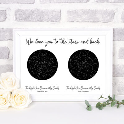 personalised constellation gifts for daddy
