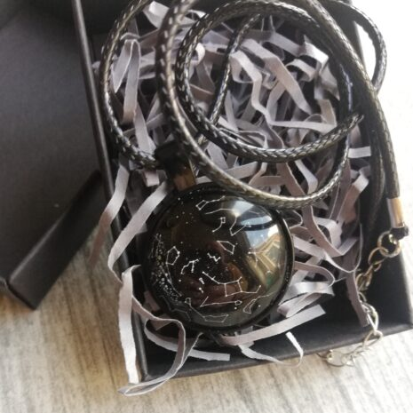 Star necklace with wax cord chain and gift box